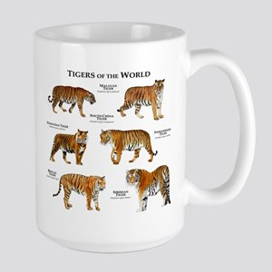 Tigers of the World Large Mug